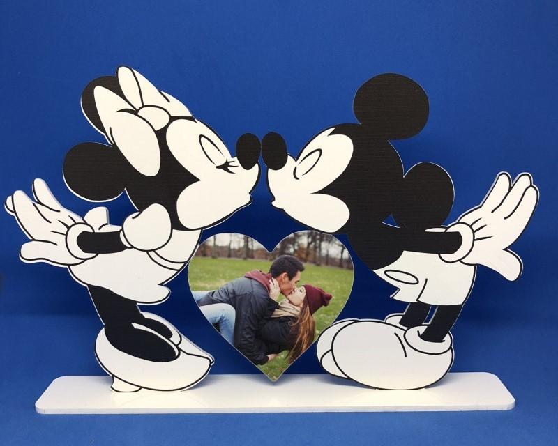 Minnie E Topolino Bacio Cuore Con Foto Gadget Per Te