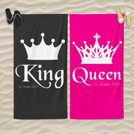 Coppia Di Teli Mare Love You And Me King And Queen 70x100